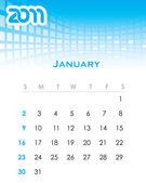 Monthly vector calendar for 2011
