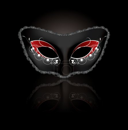 Carnival mask in vector format