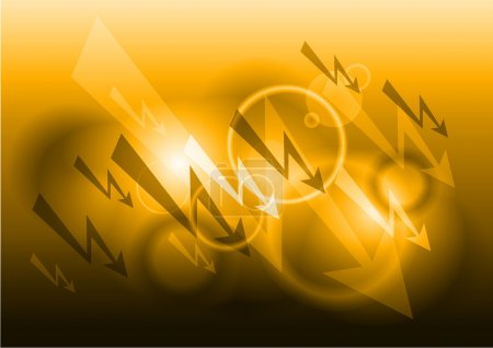 Illustration pour Fond électrique en couleur orange - image libre de droit