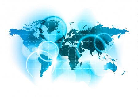 Illustration pour Carte bleue abstraite du monde - image libre de droit