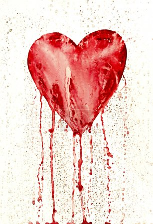Broken heart - bleeding heart