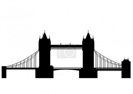 Tower bridge - vector