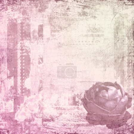 Photo for Composite images of roses and grungy textures in pink - Royalty Free Image