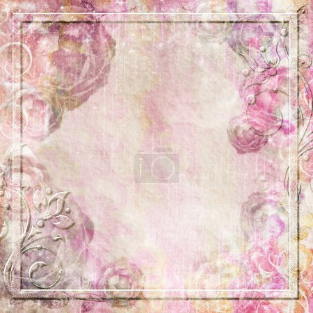 Photo for Romantic vintage background set - Royalty Free Image