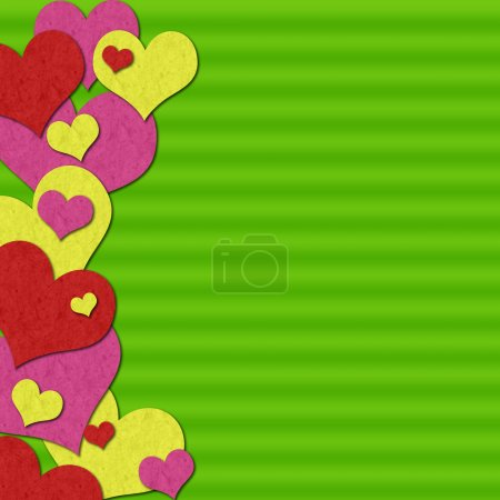 Photo for Valentine background with hearts - Royalty Free Image