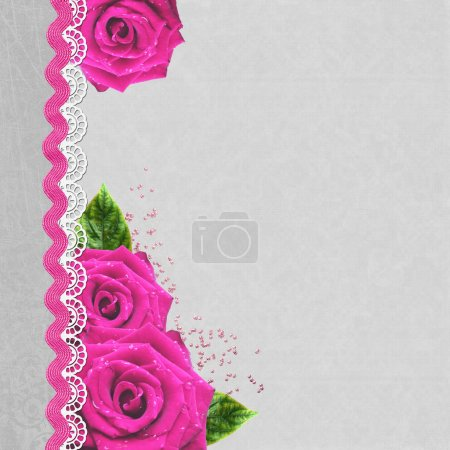 Pink rose background with copyspace great for a border or backgr
