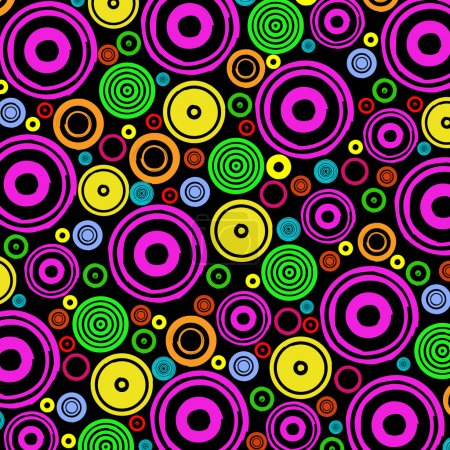 Foto de Fondo abstracto con círculos en negro - Imagen libre de derechos