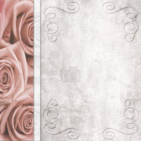 Photo pour Fond romantique mariage Vintage - image libre de droit