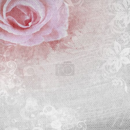 Photo for Grunge romantic background with rose - Royalty Free Image