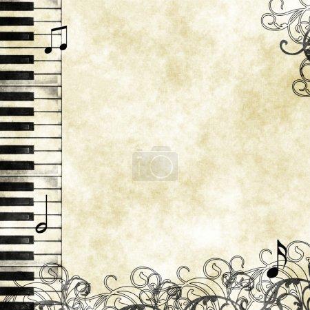 Grunge floral musical background