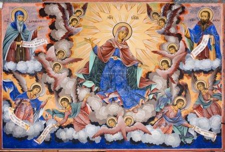 Fresco of Rila Monastery in Bulgaria