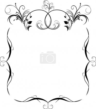 Pattern for frame. Black isolated on the white