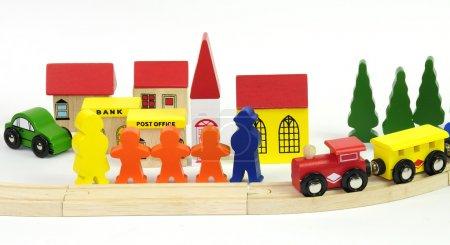 Estación de tren infantil mundo
