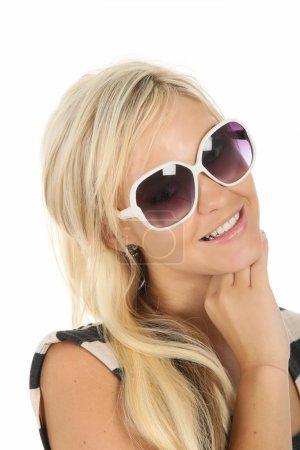 Lovely Smiling Blond in Sunglasses