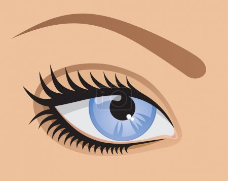 Illustration for Vector blue eye. - Royalty Free Image