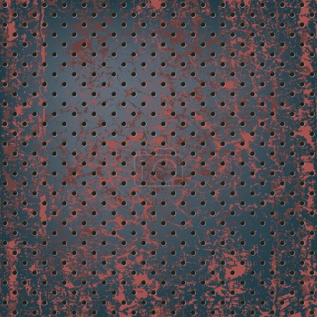 Illustration for Texture of rusty metal mesh - Royalty Free Image