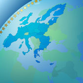 Abstract business blue background with europe map