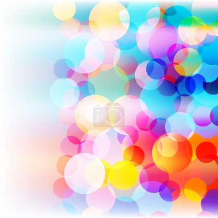 Illustration for Abstract colorful background with colored circles on white - Royalty Free Image