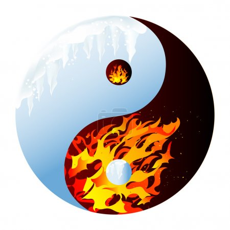 Illustration pour Feu et glace - illustration vectorielle abstraite - image libre de droit