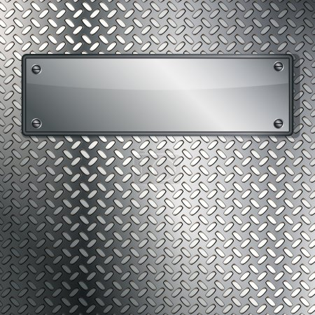 Fluted metal texture. Vector Illustration