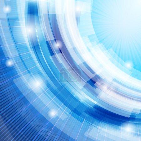 Illustration pour Vector techno abstrait fond bleu - image libre de droit