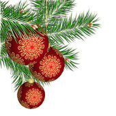 Christmas tree and red balls