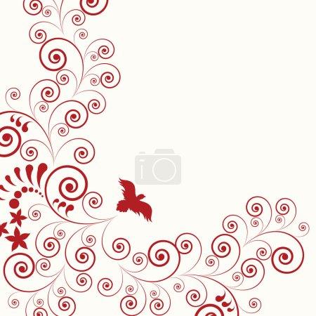 Illustration pour Fond de flore abstrait - image libre de droit