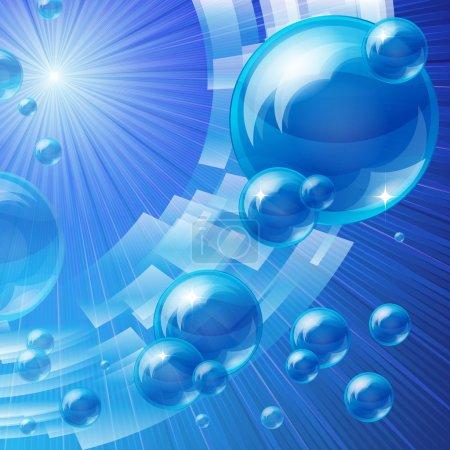 Ilustración de Fondo burbujas azules, vector de la imagen - Imagen libre de derechos