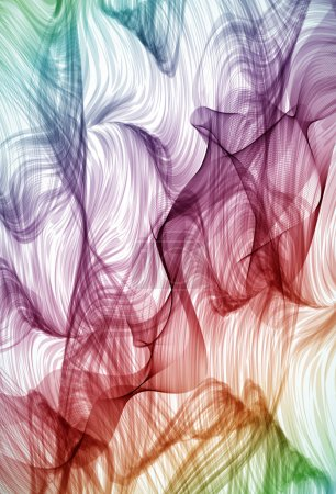 Colorful swirling hand drawn detailed background