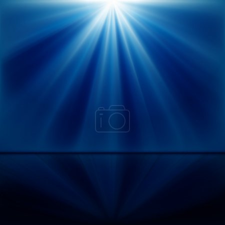 Illustration for Background of blue luminous rays - Royalty Free Image