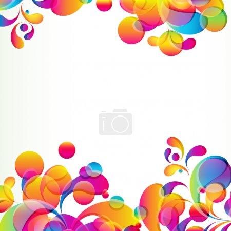 Illustration pour Abstrait avec des cercles lumineux et arcs en forme de larme. - image libre de droit