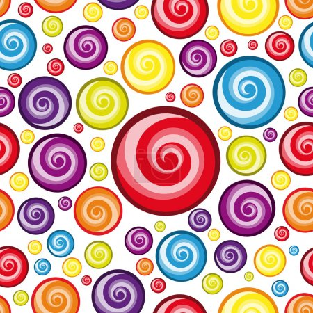 Illustration for Vector Seamless Multicolor Wallpaper. - Royalty Free Image