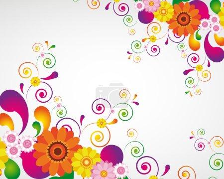 Illustration for Gift card. Floral design background. - Royalty Free Image