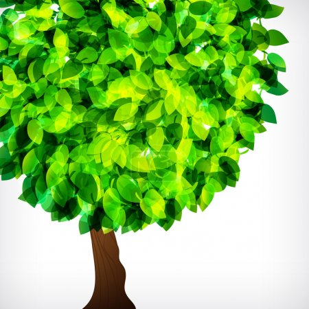 Vector fresh spring foliage background. Abstract background of f