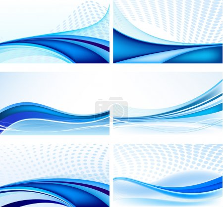 Illustration for Abstract background vector set - Royalty Free Image