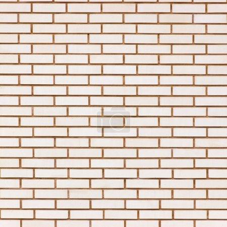 Photo pour Fond de texture mur de brique fine, grande de couleur beige - image libre de droit
