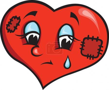 Illustration for Sad heart - Royalty Free Image