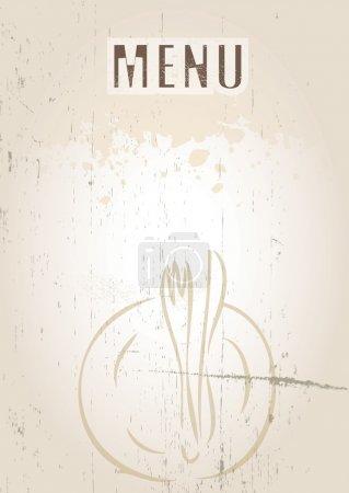 Photo pour Une image de format portrait d'une couverture de menu ou un tableau de menu avec menu d'orthographe orthographe texte défini sur un grunge style fond. utilisation idéale pour un restaurant, le café ou le bi - image libre de droit