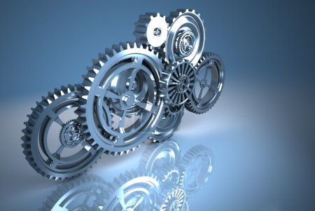 Photo for Machine Gears metal - Royalty Free Image