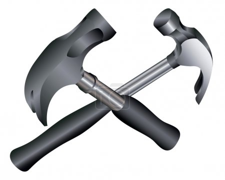 Two metal hammers