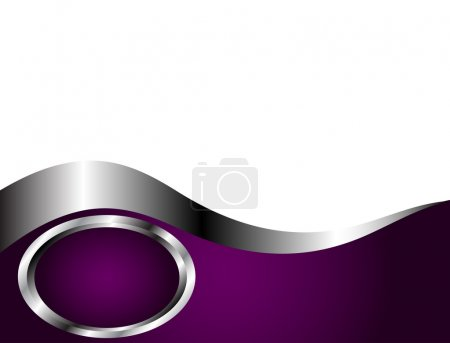 Illustration for A deep purple and Silver and white Business card or Background Template - Royalty Free Image