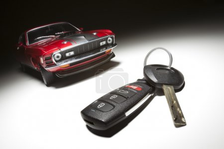 Car Key, Remote and Sports Car