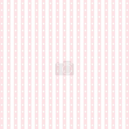 Seamless pattern of dots and stripes