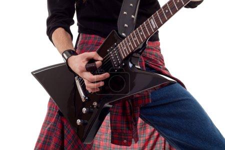 Guitar being played