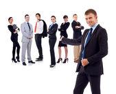 üzletember bemutató csapata