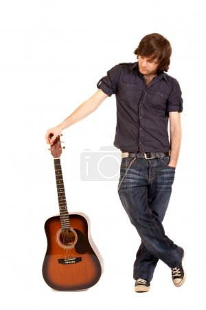 Guitarist with acoustic guitar