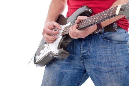 Cluseup of a rock guitarist