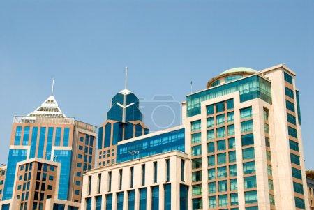 Photo pour Bâtiments du centre-ville à bangalore, Inde - image libre de droit