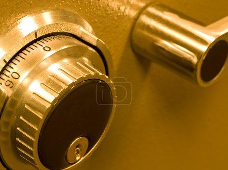 Closeup of a Safe Vault Combination Spinner