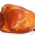 Isolated pork picnic shoulder ham on white backgro...